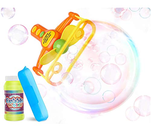 EPCHOO Bubble Gun, Automatic Bubble Blower Toy, Bubble Machine For Kids, Bubble Making Machine with Bubble Solution Summer Outdoor Activity Toys for Wedding Party Birthday