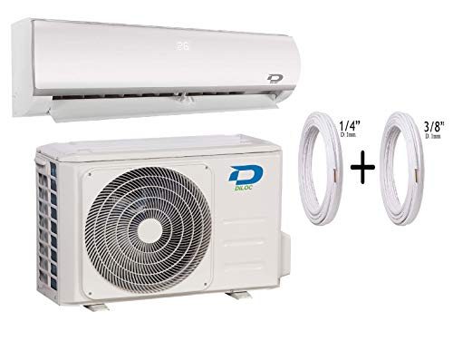 Diloc Condizionatore 18000 Btu Climatizzatore Inverter Parete D.FROZEN.18+D.FROZEN118 Compressore Sharp + Tubi Rame Coppia 1/4' + 1/2' (5 Metri (5+5))