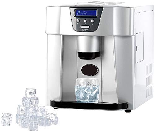 Rosenstein & Söhne Eiswürfelmaker: Eiswürfelmaschine EWS-2100 mit Eiswürfelspender (Eismaschinen)