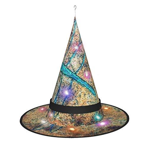 Dragonfly Art On A Rock Chica Disfraces de Halloween Cosplay Sombrero de bruja Accesorio Fiesta de Navidad