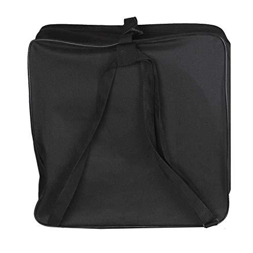 Rucksack Robustes Oxford-Stoffgewebe Tragbare Snaredrum wasserdichte, verstellbare Rucksackgurt-Taschenhalter für Arbeit/College/Männer (Color : Schwarz, Size : M)