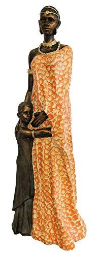 colourliving Große Afrikanische Frau mit Kind 100cm Massai Afrika