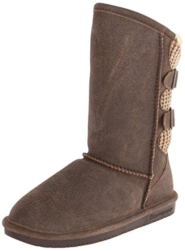 BEARPAW Women's Boshie Winter Boot, Charcoal, 9 M US
