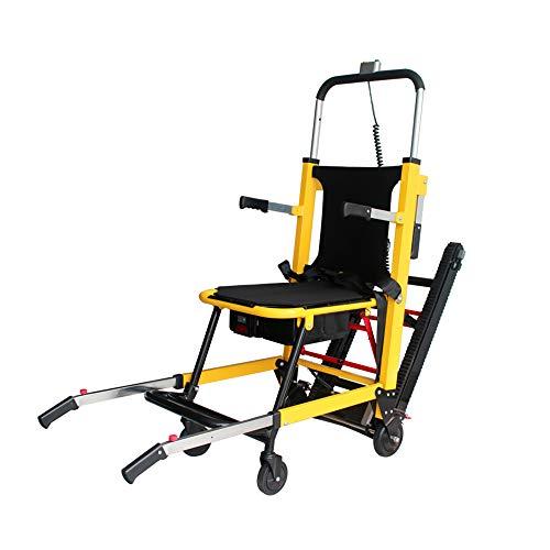 Treppensteiger Rollstuhl für Erwachsene, zusammenklappbar, leicht, Fabio Elektrischer Handruck, Treppenhebestuhl, Power Crawler, verstellbarer Evakuierungs-Treppenstuhl, Aluminiumlegierung