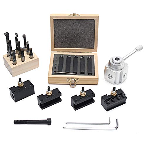 Check Out This Ctghgyiki Quick Mini Change Tool Post Holder Set with 9pcs 3/8 Boring Bar and 5pcs I...