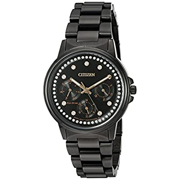 Ladies Citizen Eco-Drive FD2047-58E Silhouette Crystal Watch