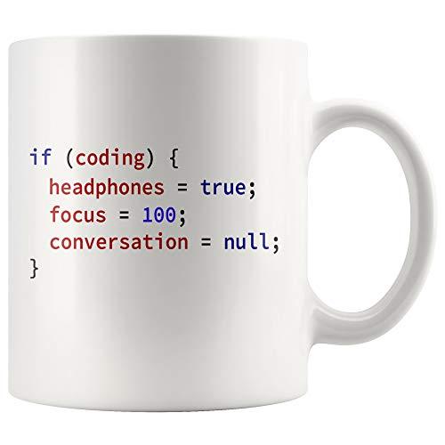 Programador de taza de café con código divertido, idea de regalo