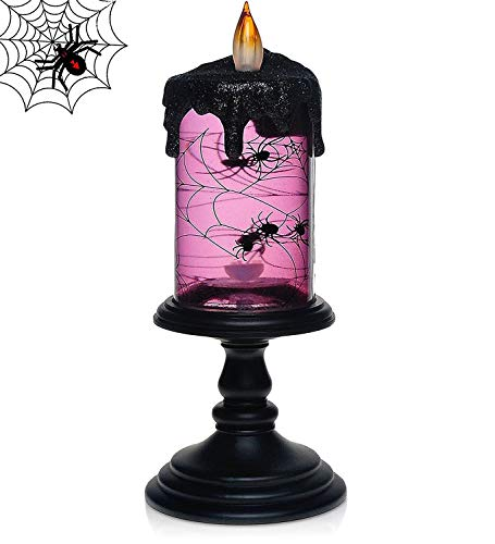 Metermall Lights For LED Plastic Electronic Simulation Candle Lamp for Halloween Bar Decoration Spiders are not timed