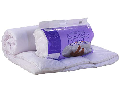 Lancashire Textiles King Size Dual Tempo 9 and 4.5 Tog Summer 2-in-1 Partner Joint Split Tog Duvet Quilt - Made in UK
