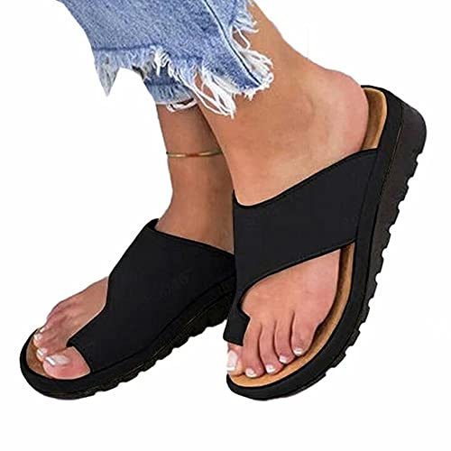 Bunion Sandals for Women Summer Women's Orthopedic Correction Ring Toe Casual Bunion Slippers Bunion Corrector Platform Shoes Women Flip-Flop Wedge Sandals