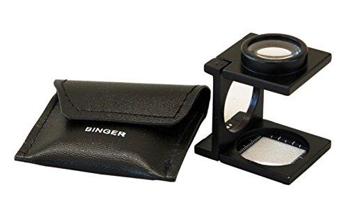 Binger BG602Contafili 8x lente di ingrandimento pieghevole in metallo in vetro ottico Dimensioni compatte