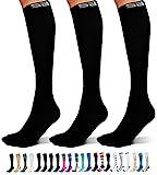 SB SOX 3-Pair Compression Socks (15-20mmHg) for Men & Women – Very...