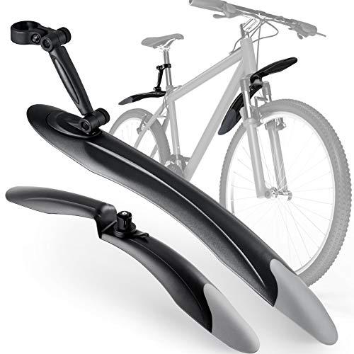 Lifelf Fahrrad Schutzbleche, für 24 bis 28 Zoll, Vorne und Hinten Kotflügel, verstellbares Spritzschutz Kotflügel für MTB Mountainbike, Schwanz aus Weichgummi