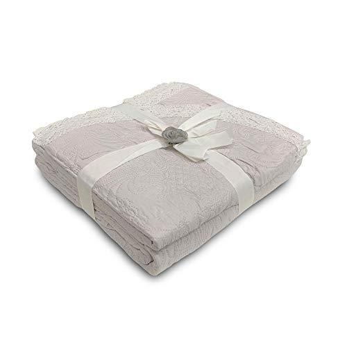Nada Home Colcha colcha efecto acolchado para cama de matrimonio La marca Volze Encaje 3939