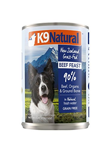 K9 Natural BPA-Free & Gelatin-Free Canned Dog Food, Beef 13oz 12 Pack