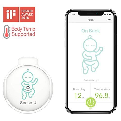 Sense-U Baby Atmungsüberwachung babyphone & Rollover Bewegungsmelder: baby atmungsüberwachung, baby bewegungsmelder für rollover, Überhitzung und Kaltalarm(2020 Aktualisierte Version)