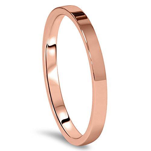 Plano de corte cómodo de Géminis oro rosa del anillo de bodas de titanio de pareja el día de San Valentín para hombres, mujeres, parejas, Unisex de ancho 4 mm