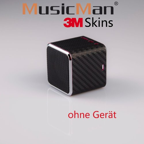 MusicMan Mini Sticker, Skin, Aufkleber Carbon Black S-16MINI Original MusicMan Zubehör…