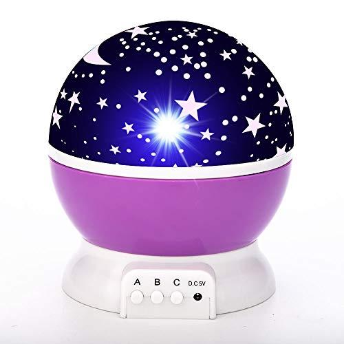 7 Farben 3D Mondlicht Koran rezitieren Bunte Nachtlampe Runde für Lesen Studieren Schlafsaal Schlafzimmer,Purple