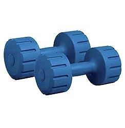 Protoner Pair of 5kg Each PVC Dumbbells Set,SPORTS HUBB,Pair of 5kg Each