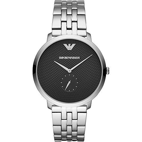 Emporio Armani Herren Analog Quarz Uhr mit Edelstahl Armband AR11161