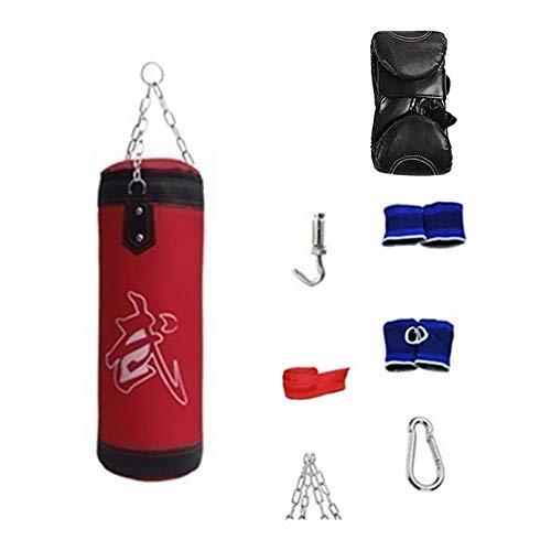 MoMo - Set de boxeo de 8 piezas. Saco de boxeo (de arena) pe