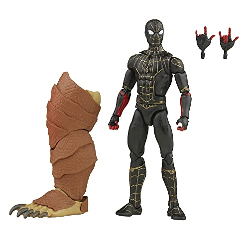 Marvel Legends Series Black & Gold Suit Spider-Man - Figura de 15 cm e Acessórios - F3019 - Hasbro