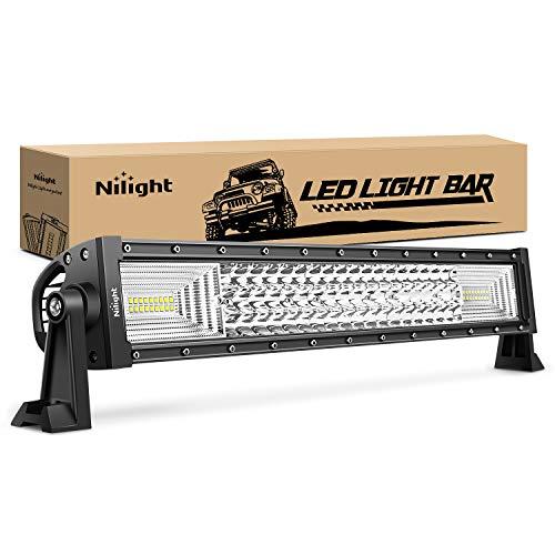 LED Light Bar Nilight 22Inch 270W Triple Row 27000LM Flood Spot Combo Beam Led Bar Driving Lights Boat Lights Super Bright Led Off Road Lights for Trucks,2 Years Warranty