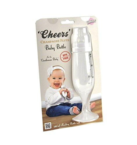 Bubblegum Stuff – Cheers BPA-freie Champagnerflöte Babyflasche Essentials – Geschenk für Neugeborene, Nylon/a, One Size