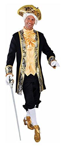 M214259-XXL schwarz-gold Herren Rokoko Barock Kostüm Marquis Graf Lord Gr.XXL