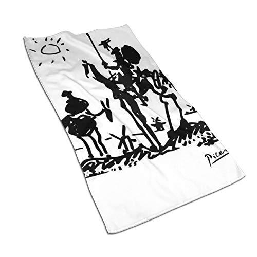 Genertic 27.5 * 15.7in Handdoek Oude Man Rijden Een Paard In De Hete Zon Zachte Super Absorberende Fluffy Handdoek Katoen Gepersonaliseerde Vierkant Gezicht Zacht Hotel Bad