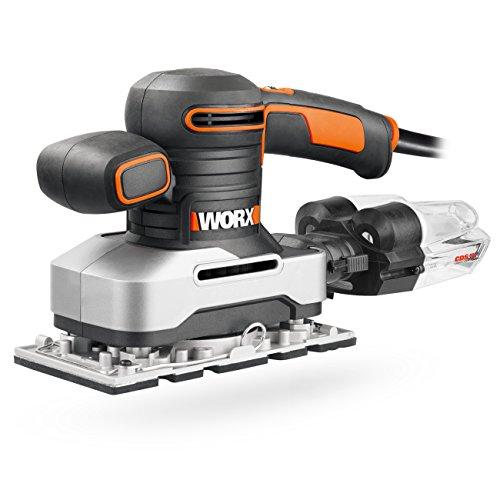 Worx WX642.1 Schwingschleifer – Elektrisches Profi Schleifwerkzeug mit 270W – Inkl. Schleifpapier & Koffer – Größe: 187 x 90 cm