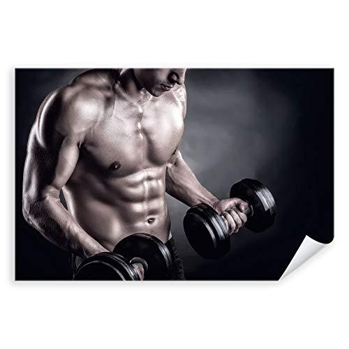 Postereck - 3263 - Fitness Mann, Hanteln Sport Sixpack Muskeln - Wandposter Fotoposter Bilder Wandbild Wandbilder - Poster - 4:3-81,0 cm x 61,0 cm