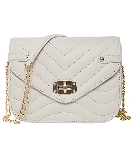 ADISA Women's Wave Party Sling Bag (SL5064-CRE_Off White)