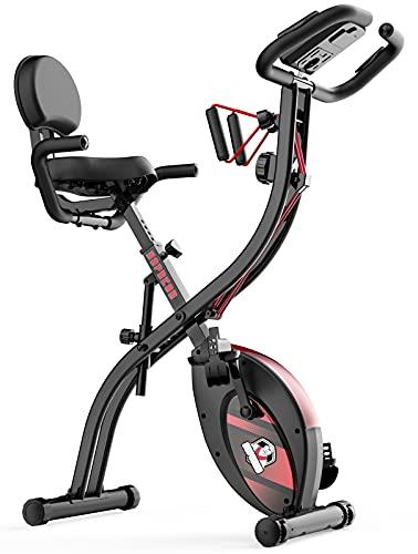 Exercise Bike, HAPBEAR Stationary Workout Foldable...
