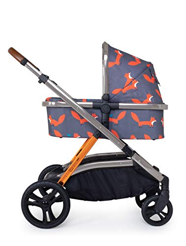 Cosatto Wow XL 3-in-1 Pram and Pushchair – From Birth to 25kg, Tandem Mode & Buggy Board, Charcoal Mister Fox