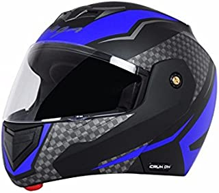 Vega Crux Flip Up Helmet, 57 Cms - 59.5 Cms, Large(Black and Blue)
