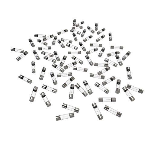 AUPROTEC Glassicherung 5x20mm Feinsicherung 1A - 20A Schmelzsicherung Auswahl: 16A Ampere, 100 Stück