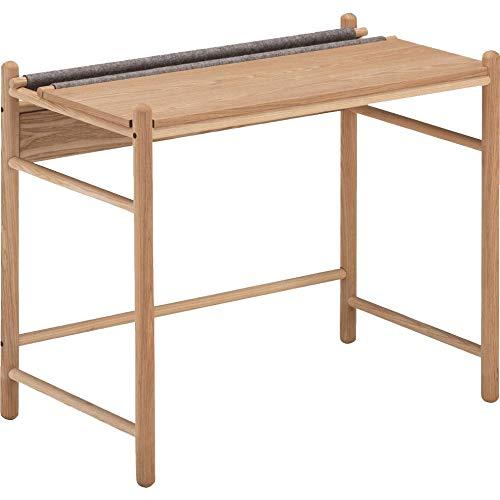 Meubletmoi AGDE 3284 - Escritorio de madera de fresno y fieltro gris