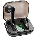GUANZHI True Wireless Earbuds TWS Bluetooth 5.0 Headphones Stereo Sound Earphones 30H Playtime Charging Case & LED Power Display IPX5 Sweat Proof Headset with Built-in Dual Mic for Sports