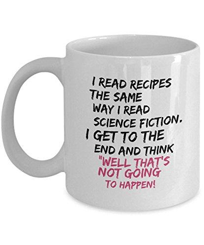 DKISEE Divertida taza de café de cocina – Taza humorística para hornear – Taza de café de receta – divertida taza de café para mamá – I Cant Cook – divertida taza de chefs – taza de mamá