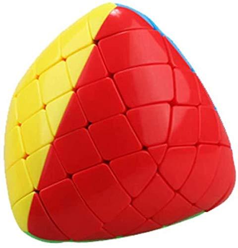 JIAFENG En Forma de Cubo mágico de Color Cubo de Quinta Velocidad de Orden Gnocchi tetraedro Monta los Juguetes educativos para los niños
