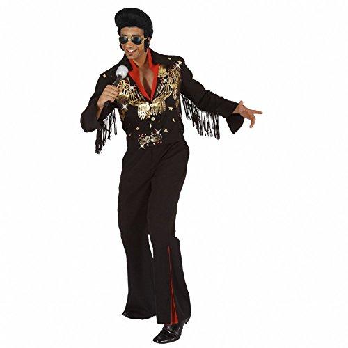 Mortino Kostüm Rockstar Elvis Gr. M - XXL Anzug schwarz Sänger 50er Jahre Musiker (M)