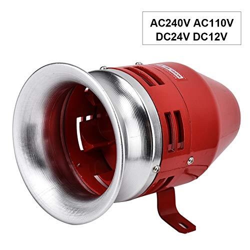 Alarma de Motor, Zumbador de Metal Forma de Tornillo de Viento de Alarma Impulsado Motor Eléctrico de 120db Adecuado Transmitir Señales en Varias Grúas Sistemas Alarma Contra Incendios(AV110V)