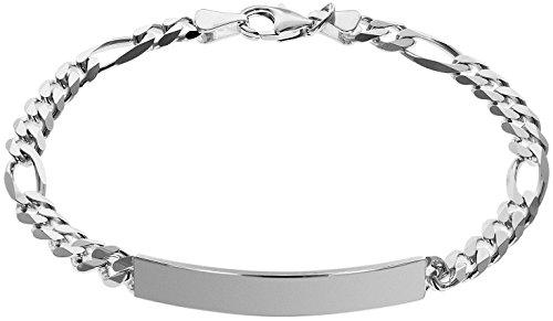 trendor Silber Herren-Armband zum Gravieren inklusive Wunsch-Gravur Gravurschmuck aus Sterling-Silber für Männer, modische Geschenkidee für Herren, 35676