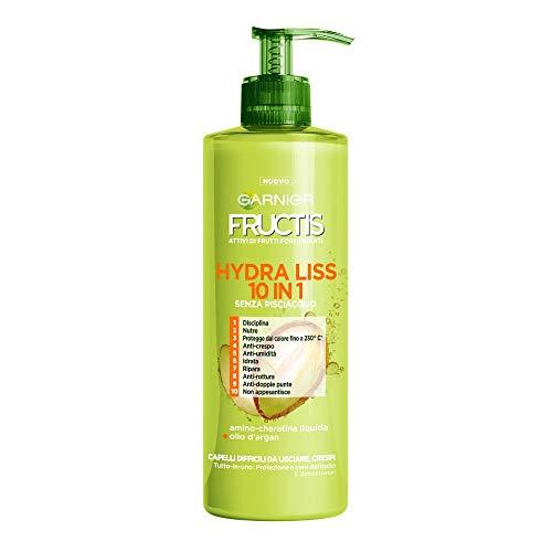 Fructis Style Hydra Liss 10 in 1 Trattamento senza Risciaquo per Capelli Difficili da Lisciare e Crespi - 3 Confezioni da 400 ml