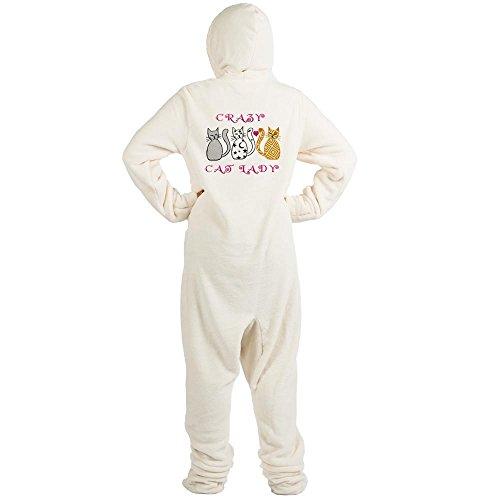CafePress - Crazy Cat Lady - Novelty Footed Pajamas, Funny Adult One-Piece PJ Sleepwear