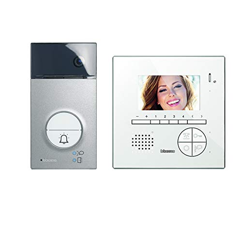 """Legrand, Flex ONE 2-Draht Videosprechanlagen Set, Classe 300 V13E mit 7"""" Touchscreen Monitor, 105° Weitwinkel Kamera, Video Speicherung, IP54, IK10, 363511"""