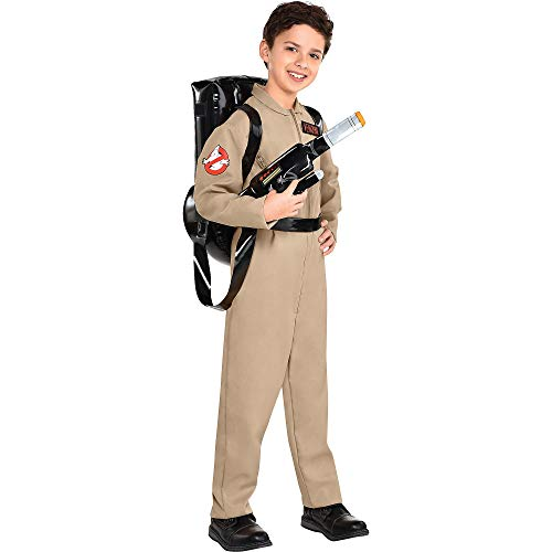 Party City Ghostbusters Costume with Proton Pack for Children, Large, Includes Jumpsuit with Zippers and Backpack
