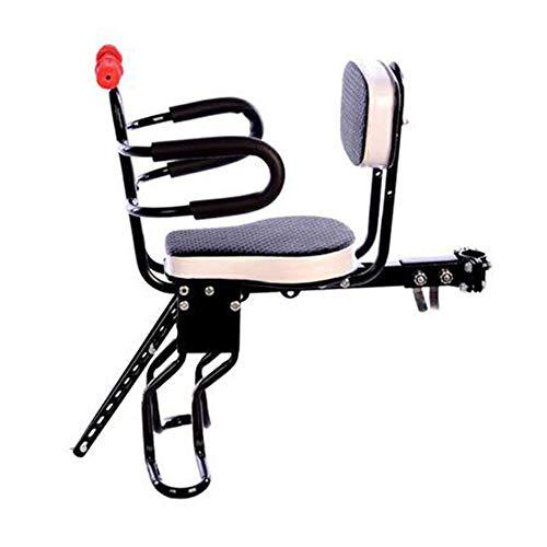 AILSAYA Kinderveiligheid Voorstoel voor Fiets en Elektrische Fiets Stoel met Armsteun En Pedaal Afneembare Hek Fiets Kinderstoel Voorzijde Elektrische Fiets Baby Stoel